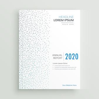 Conception de brochure de rapport annuel minimal avec des points bleus