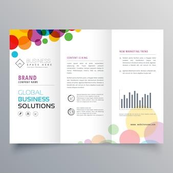 Conception de brochure à trois volets abstrait coloré
