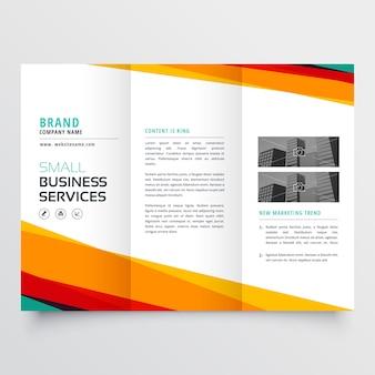 Conception de brochure à trois volets affaires abstrait coloré