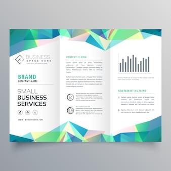 Conception de brochure à trois volets affaires avec des formes abstraites