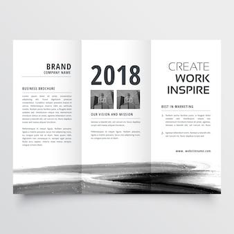Conception de brochure à trois volets aquarelle abstraite