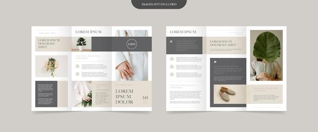 Conception de brochure à trois volets de style minimal