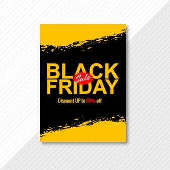 Conception de brochure de vente vendredi noir moderne