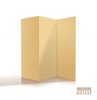 Conception de brochure vierge à trois volets isolée.