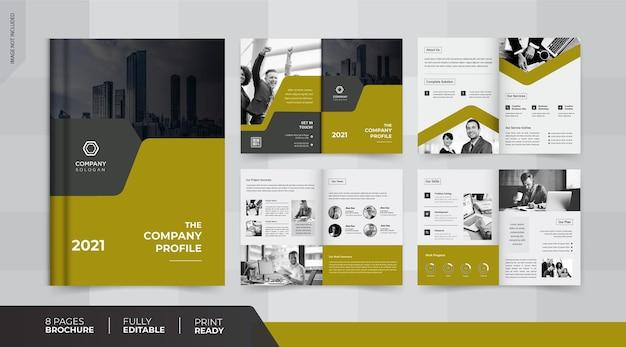 Conception de brochures de 8 pages