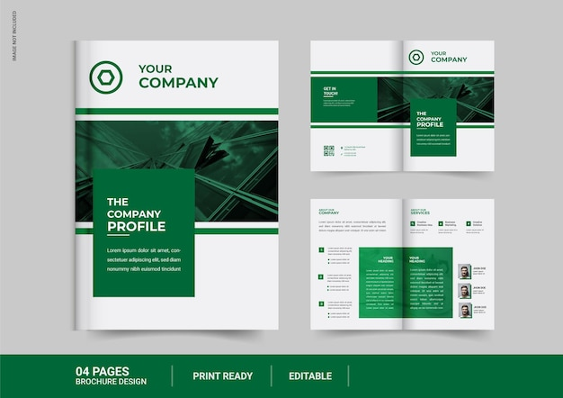Conception de brochures d'affaires à deux volets