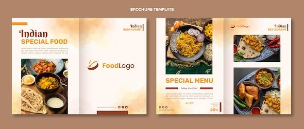 Conception de brochures alimentaires aquarelle