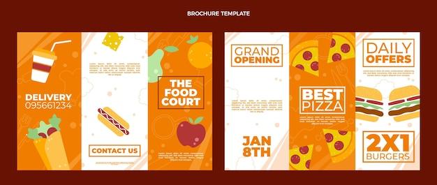 Conception de brochures alimentaires à plat