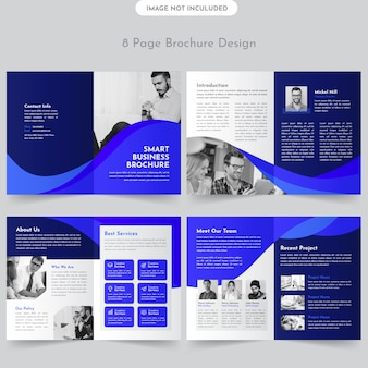 Conception de brochures commerciales de 8 pages