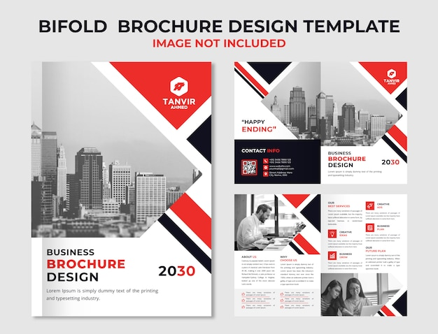Conception de brochures commerciales bifold