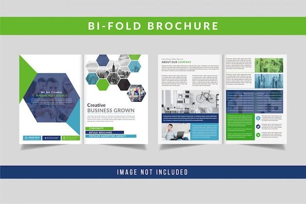 Conception de brochures créatives à deux volets