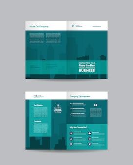 Conception de brochures d'entreprise à deux volets