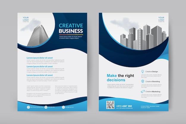 Conception De Brochures D'entreprise Vecteur Premium