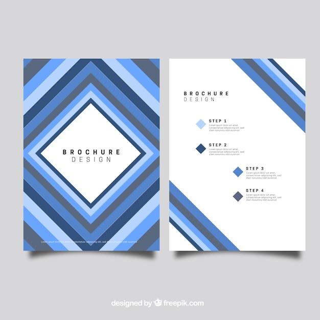 Conception de brohure bleu losange