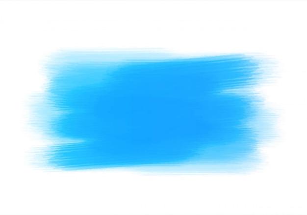Conception de brosse à main aquarelle bleue abstraite