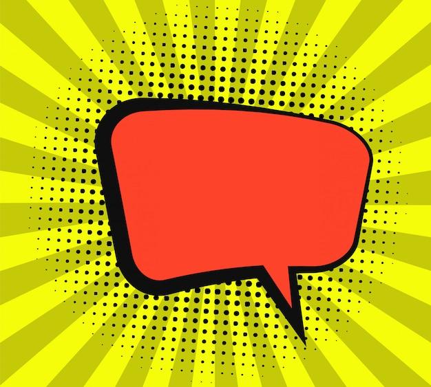 Conception de bulle de dialogue comique
