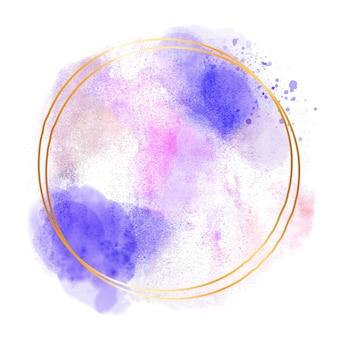 Conception de cadre aquarelle abstraite