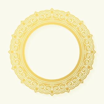 Conception de cadre de bordure ronde de luxe