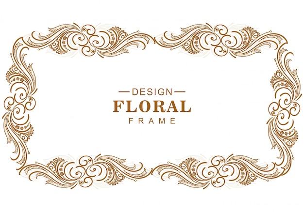 Conception de cadre floral artistique décoratif