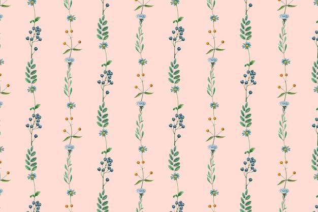 Conception de cadre floral fruité