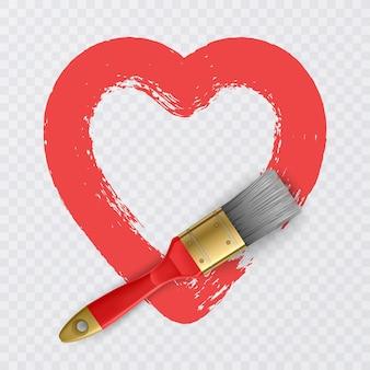 Conception de cadre en forme de coeur pour carte de saint valentin