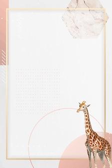 Conception de cadre de girafe rectangulaire