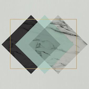 Conception de cadre de losange rectangle