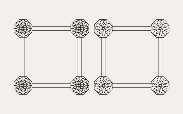 Conception de cadre de modèle coréen traditionnel