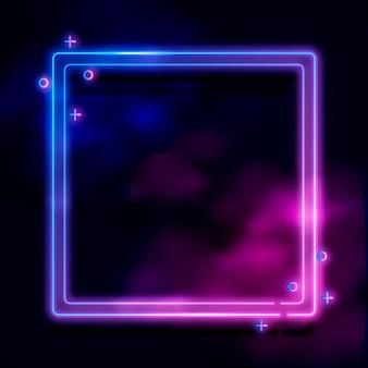 Conception de cadre néon coloré