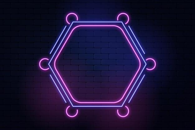 Conception de cadre néon