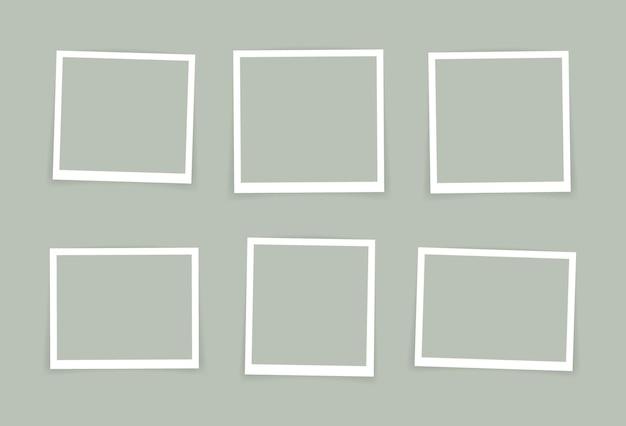 Conception de cadre photo. cadre photo super set isolé