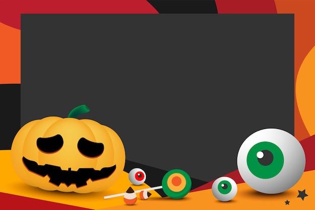 Conception de cadre photo halloween