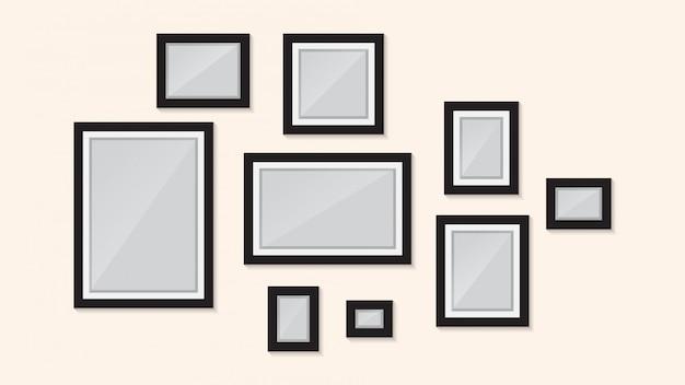 Conception de cadre photo sur le modèle de mur
