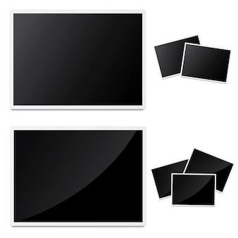 Conception de cadre photo vecteur blanc