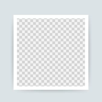 Conception de cadre photo vectorielle. photographie réaliste avec un espace vide pour l'image. .