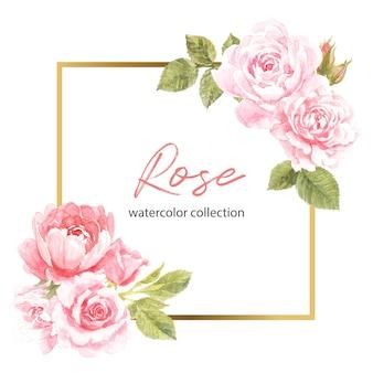 Conception de cadre rose rose