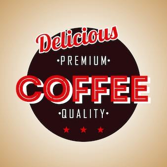 Conception de café au cours de l'illustration vectorielle fond bronze
