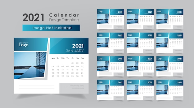 Conception de calendrier de bureau