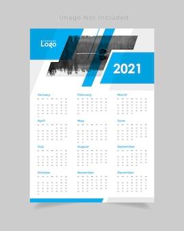 Conception de calendrier mural 2021