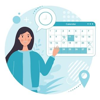 Conception de calendrier de réservation de rendez-vous