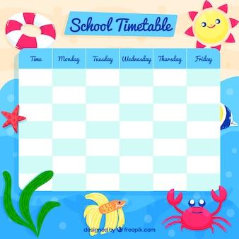 Conception de calendrier scolaire drôle