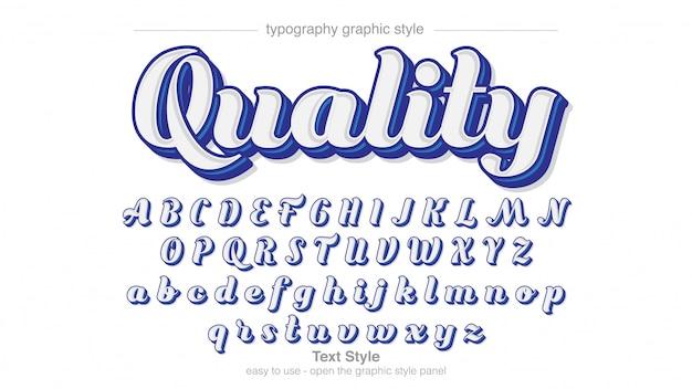 Conception de calligraphie bleu blanc cursive professionnelle