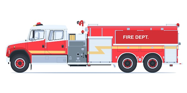 Conception de camions de pompiers