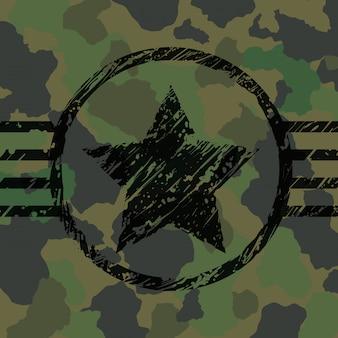 Conception de camouflage militaire.