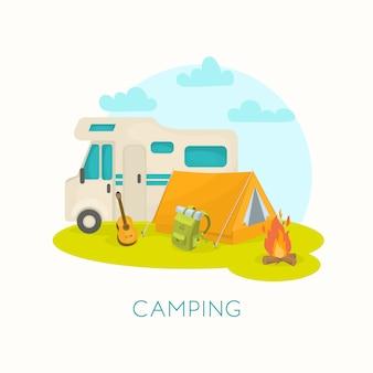 Conception de camping d'été
