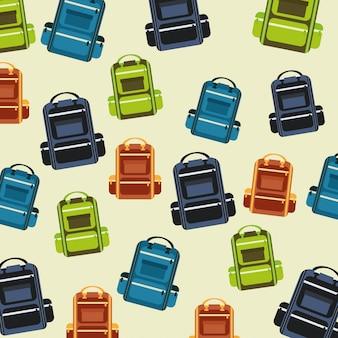 Conception de camping sur illustration vectorielle fond beige