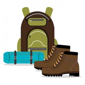 Conception de camping, illustration.