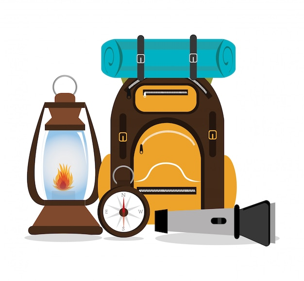 Conception de camping, illustration.