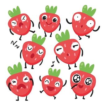 Conception de caractère aux fraises