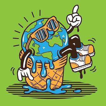 Conception de caractères de réchauffement global